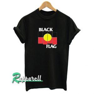 Black Flag X Aboriginal Flag Funny Tshirt