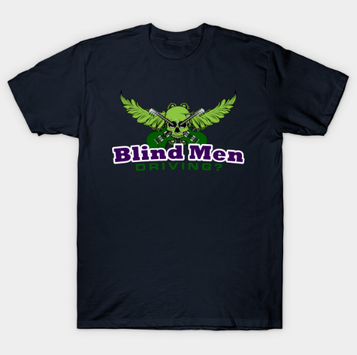 Blind Men Driving Logo Tshirt