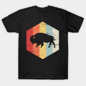 Vintage Retro Bison Buffalo Tshirt