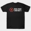 social vegan ( avoid meet ) white on black Tshirt
