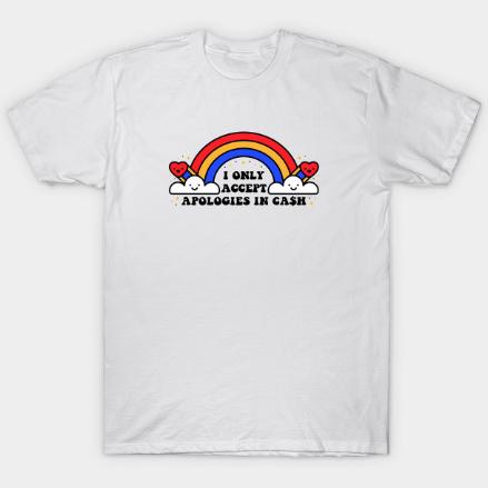 Cash Only White Tshirt