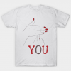 Fuck You Funny Hands Up Covering Middle Finger Memes Typographic Tshirt