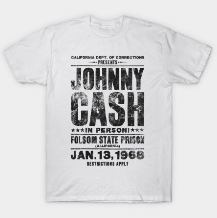 Johnny Cash Concert Tee - Black Tshirt