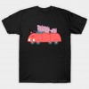 Peppa Pig and Family in the Car Tshirt