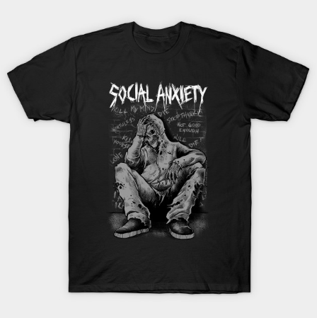 Social Anxiety Art 2 Tshirt