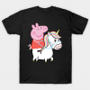 Unicorn and peppa pig Tshirt