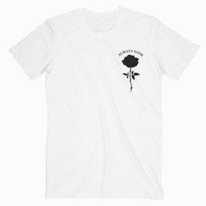 Rose Always Noir Tshirt