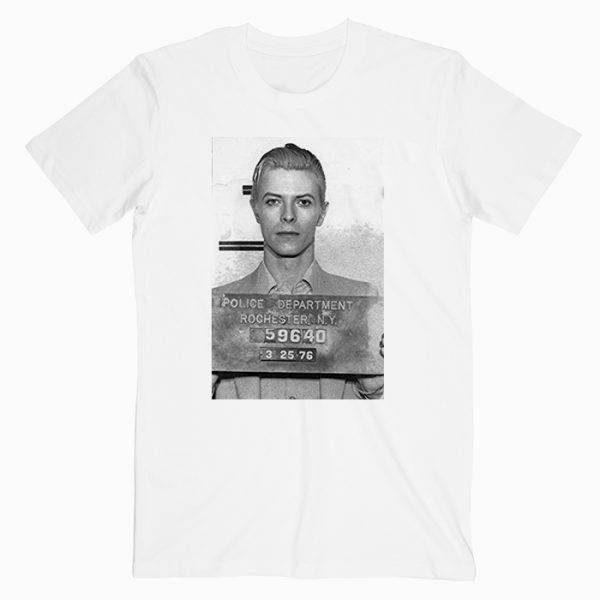 David Bowie Mugshot Tshirt
