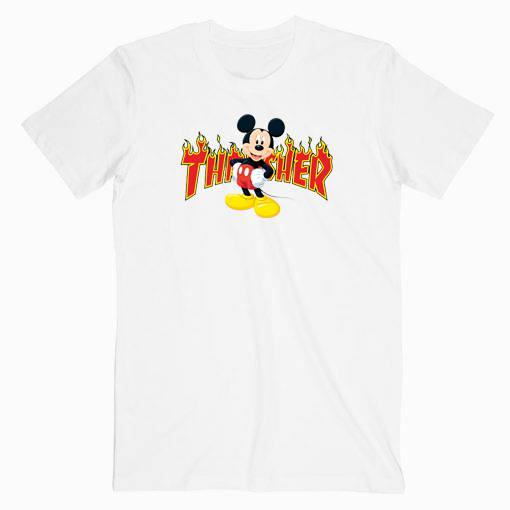Mickey Mouse X Thrasher Parody Tshirt