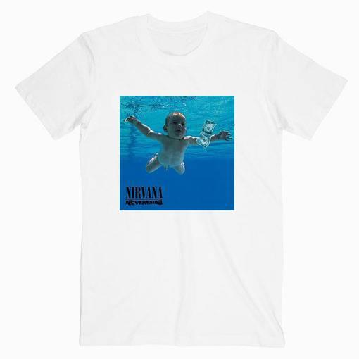 Nirvana Nevermaind Cover Album Music Tshirt