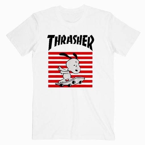 Thrasher Snoopy Skateboard Tshirt