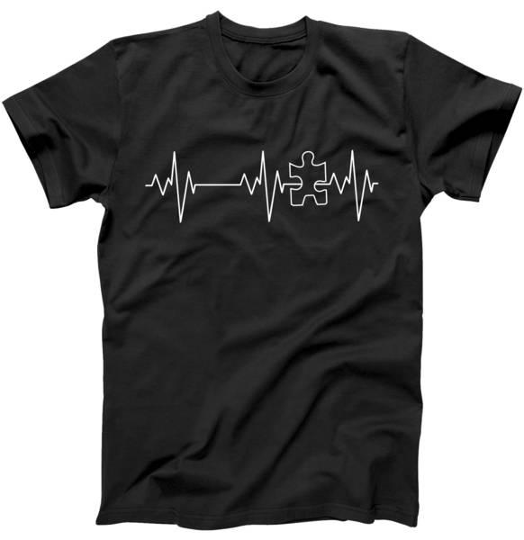 Autism Heartbeat Pulse Puzzle Tshirt
