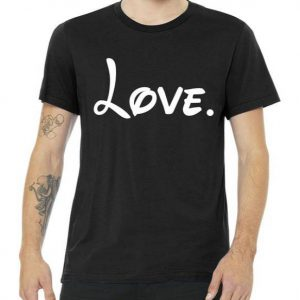 Cute Cursive Love Valentines Day Tshirt