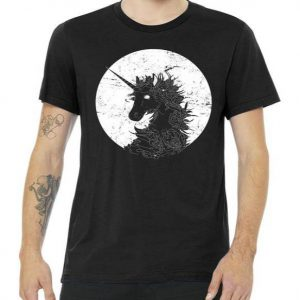 Distressed Unicorn Emblem Tshirt