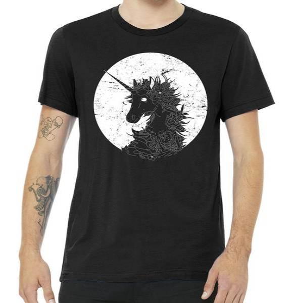 Distressed Unicorn Emblem Tshirt