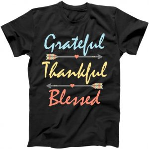 Grateful Thankful Blessed Colorful Thanksgiving Tshirt