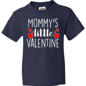 Mommy's Little Valentine Hearts Love Kids Tshirt