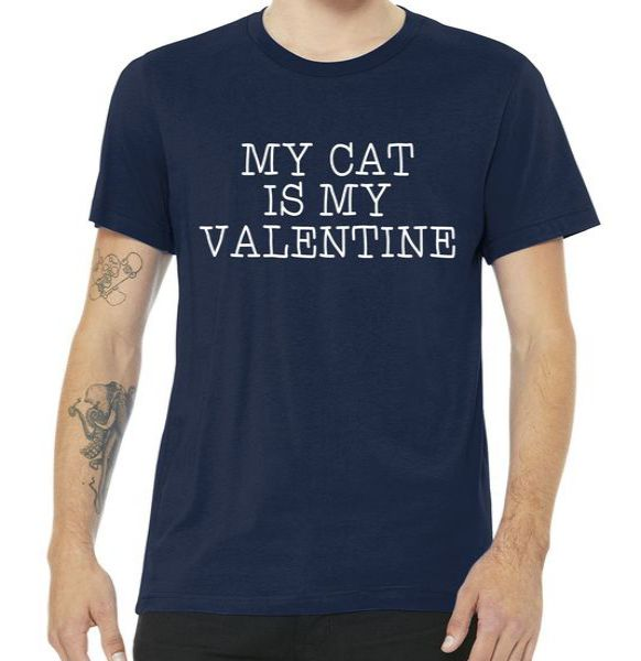 My Cat Is My Valentine Premium Tshirt