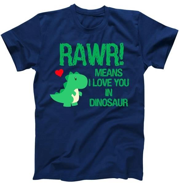 Rawr Means I Love You In Dinosaur Tshirt