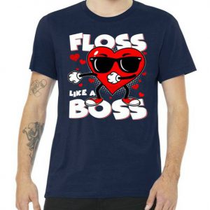 Valentine Floss Like A Boss Heart Tshirt