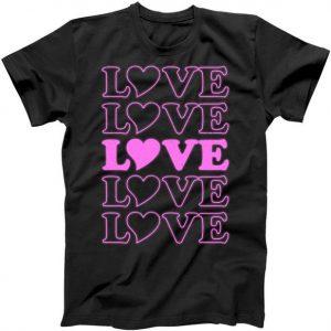 Valentine Love Pattern Tshirt