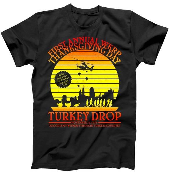 First Annual WKRP Thanksgiving Day Turkey Drop Retro Tshirt