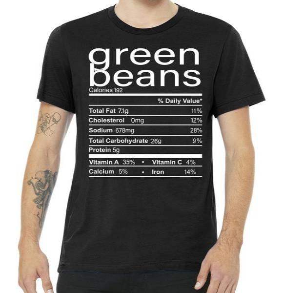 Funny Green Bean Nutrition Tshirt
