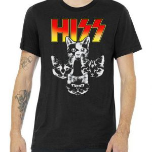 Hiss Music Cat Band Tshirt