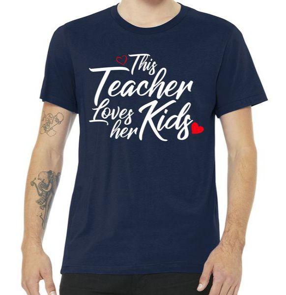Valentine's Day This Teacher Loves Her Kids Tshirt