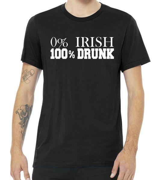 0% Irish 100% Drunk St. Patrick's Day Tshirt