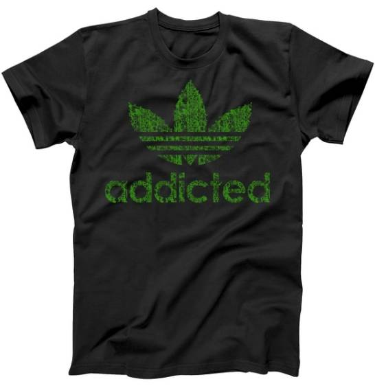 Addicted Weed Logo Tshirt