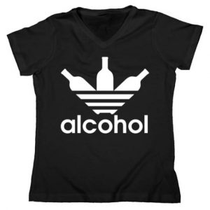 Alcohol Logo Women's V-Neck Tshirt