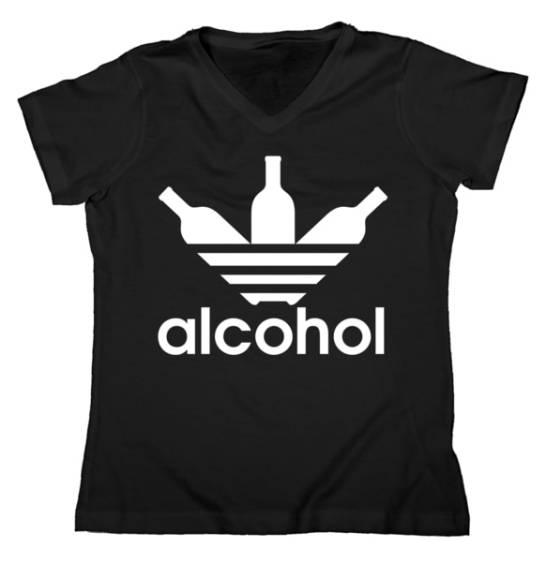 Alcohol Logo Women's V-Neck Tshirt