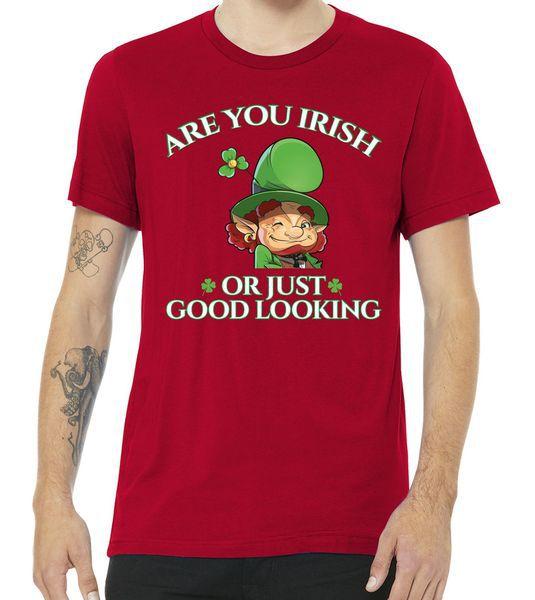 Are You Irish or Just Good Looking Leprechaun Tshirt