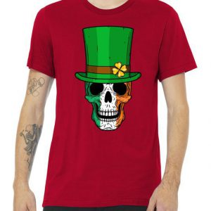 Cool St. Patricks Day Irish Skull Premium Tshirt