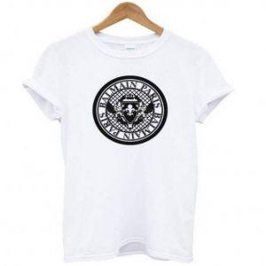 Balmain Paris Logo White Tshirt