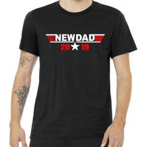 New Dad 2019 Retro Flight Logo Tshirt