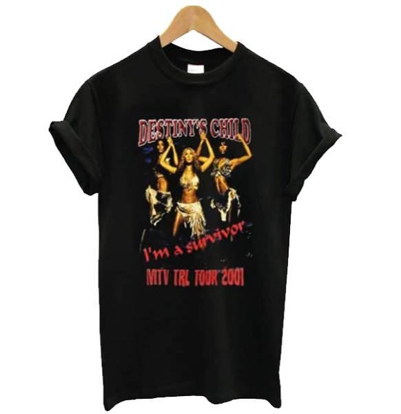 Destinys Child I'm a Survivor MTV TRL Tour Tshirt