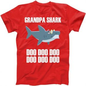 Funny Doo Grandpa Shark Tshirt