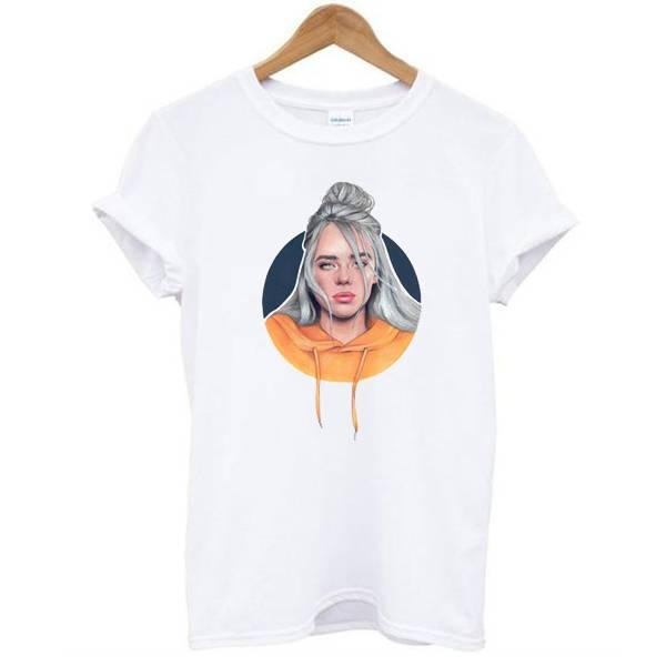 Billie Eilish With Orange Tshirt