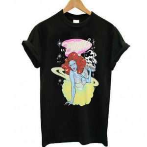 Drag Queen Merch Biqtch Puddin' Alien Waitress Tshirt