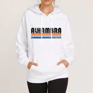 Alhambra-California-White-Hoodie-Unisex-Adult-Size-S-3XL