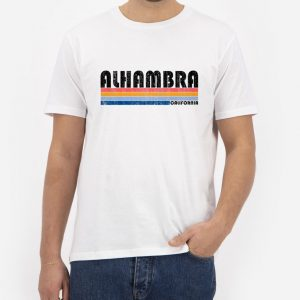 Alhambra-California-White-T-Shirt-For-Women-And-Men-S-3XL