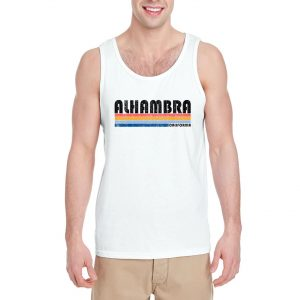 Alhambra-California-White-Tank-Top-For-Women-And-Men-S-3XL