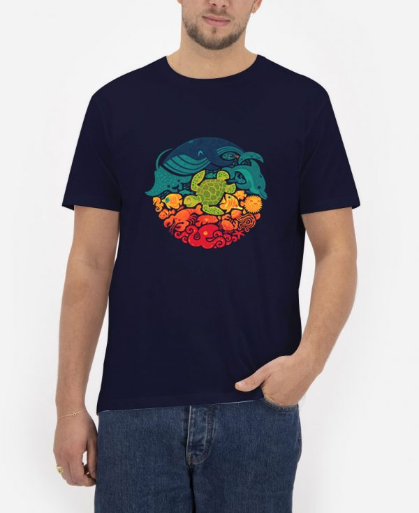 Aquatic-Rainbow-T-Shirt-For-Women-And-Men-S-3XL