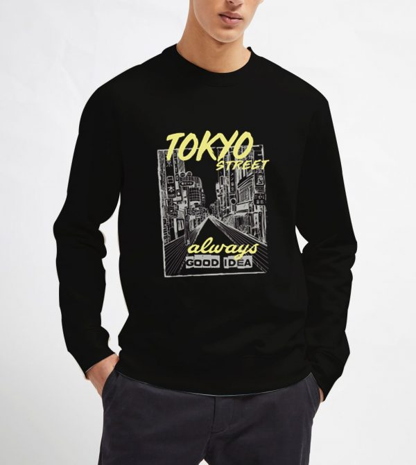 Tokyo-City-Street-Sweatshirt-Unisex-Adult-Size-S-3XL
