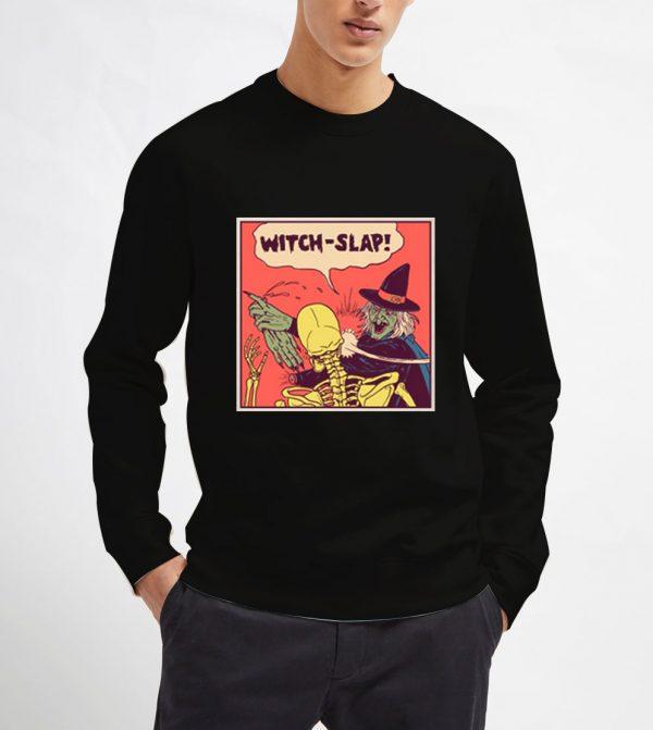 Witch-Slap-Black-Sweatshirt-Unisex-Adult-Size-S-3XL