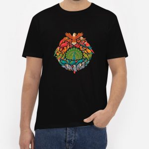 Aerial-Rainbow-Black-T-Shirt-For-Women-And-Men-S-3XL