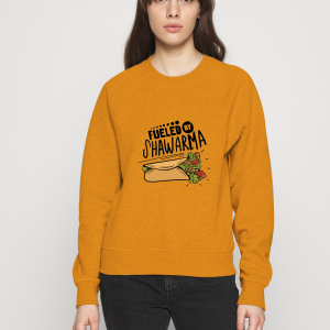 Fueled-By-Shawarma-Orange-Sweatshirt