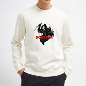 Ghostface-Scream-Mask-White-Sweatshirt